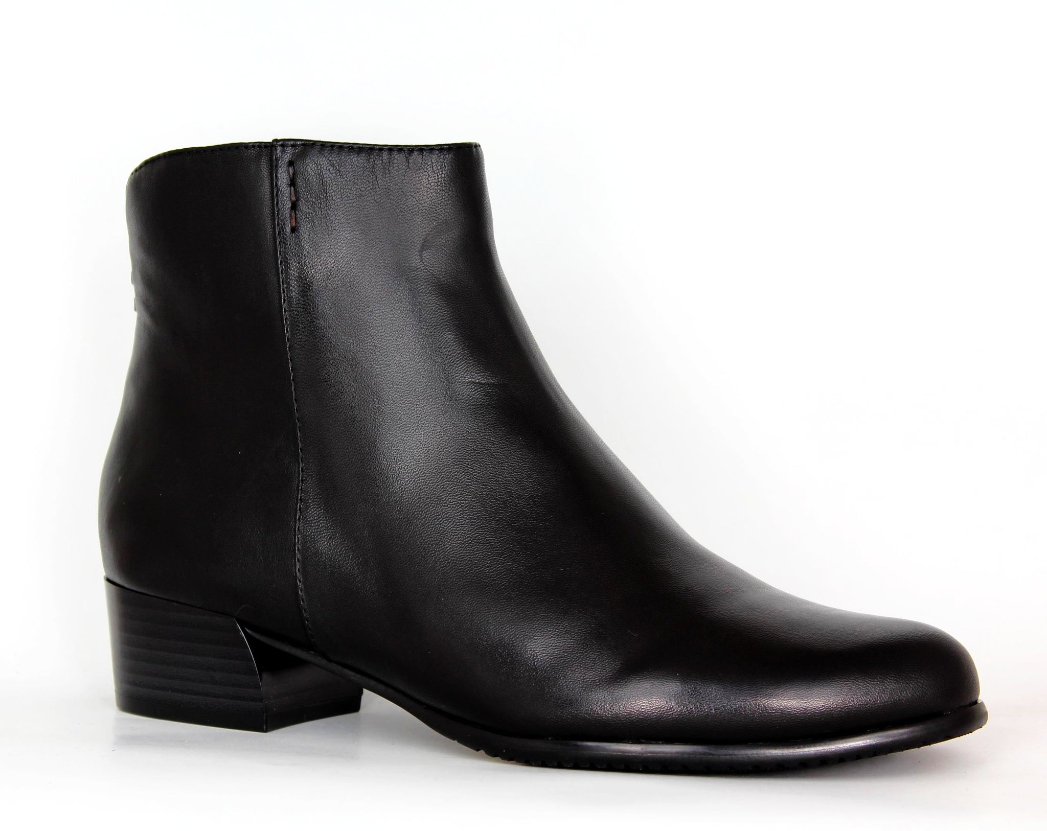 Sara Plain Low Heel Ankle Boot