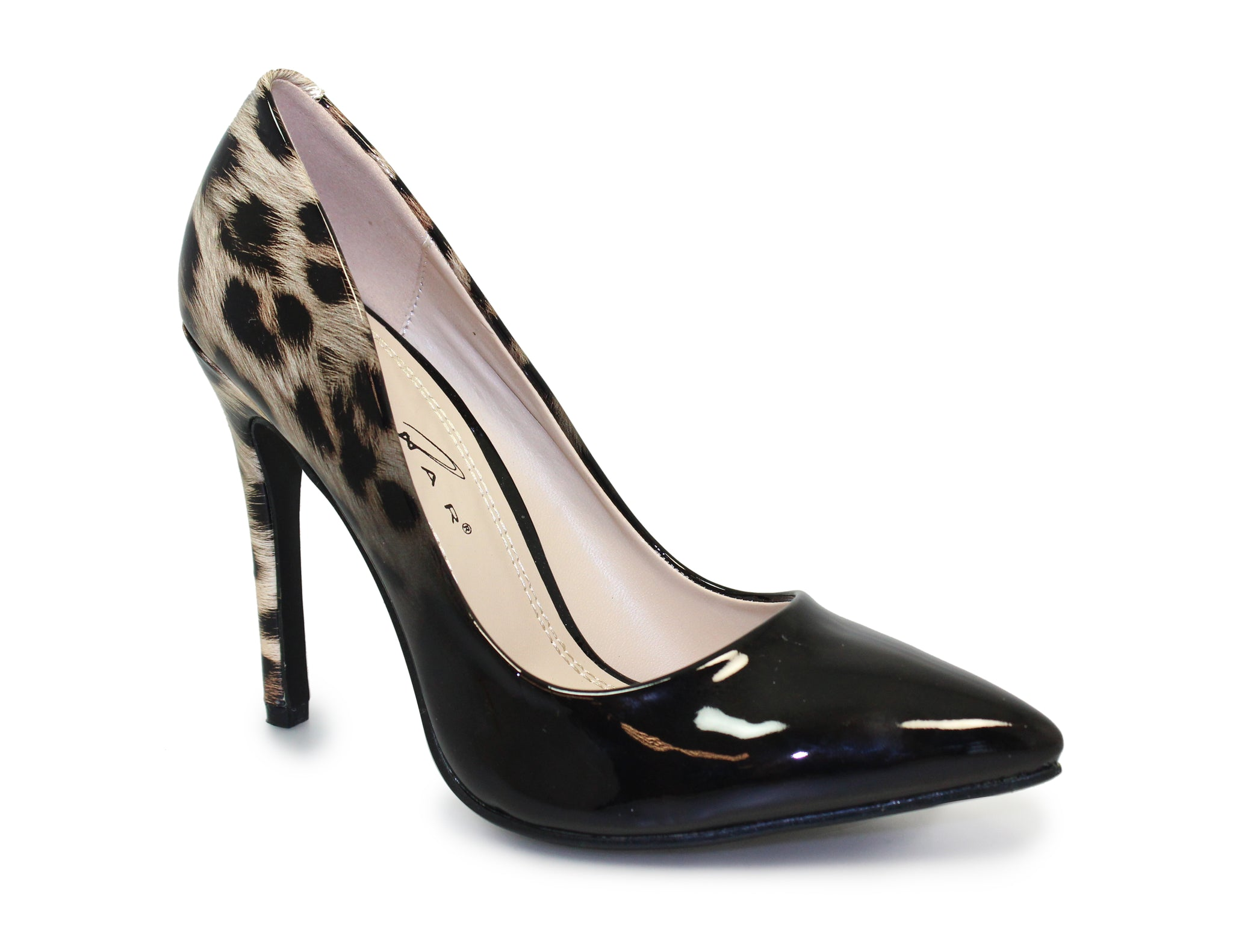 Lunar Ladies Keisha Leopard Print High Heel Court Shoe
