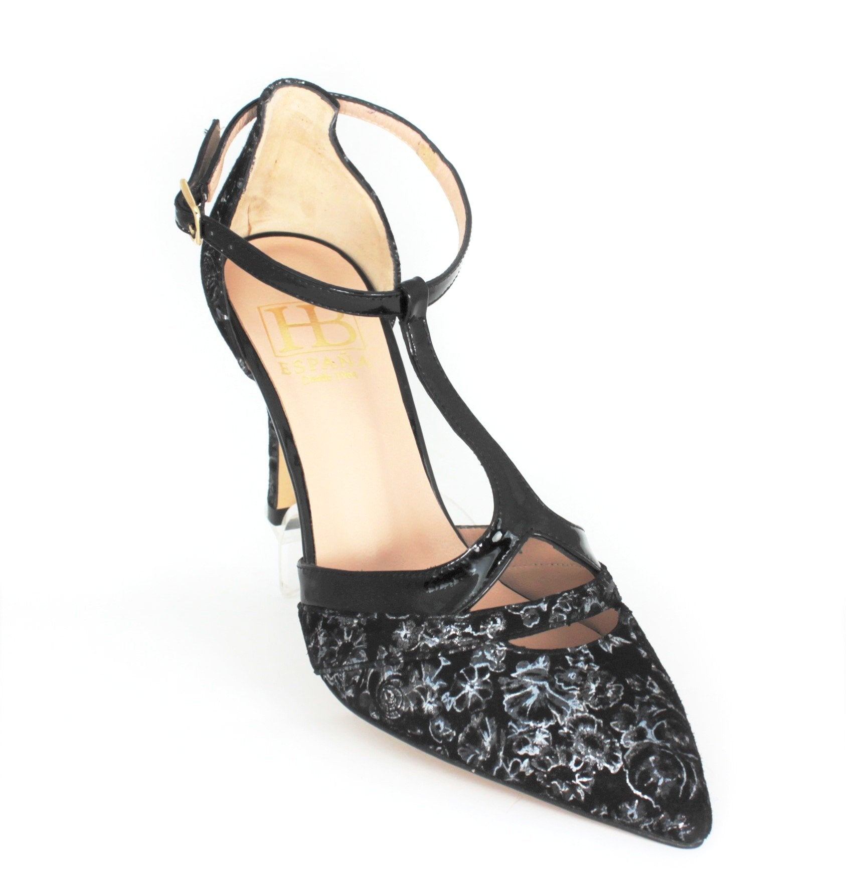 Real High Heel T-Bar Court Shoe