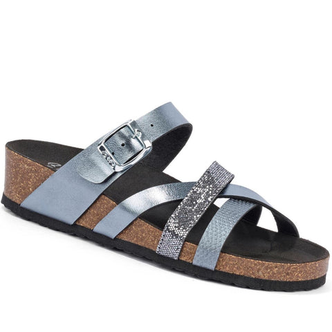 Bali Strappy Slip On Wedge Mule Sandal