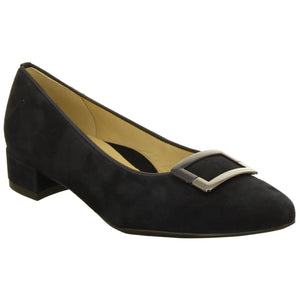 Paris Mid Heel Buckle Trim Court Shoe