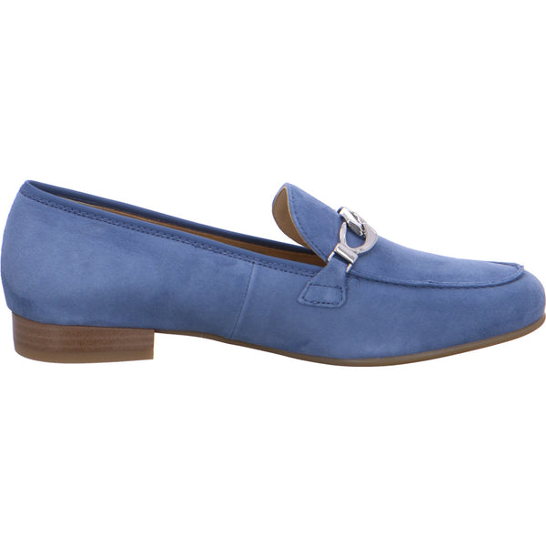 Ara Ladies Buckle Trim Low Heel Loafer