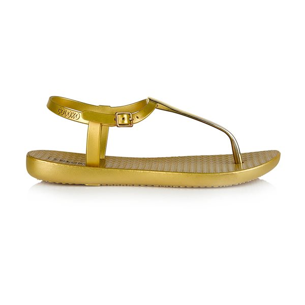 Gold Sakura Toe Post Sandal
