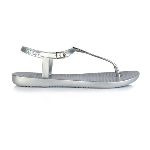 Silver Sakura Toe Post Sandal