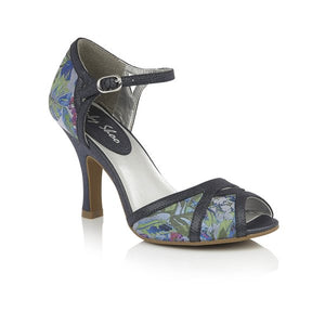 Eliza High Heel Mary Jane Style Peep Toe Shoe