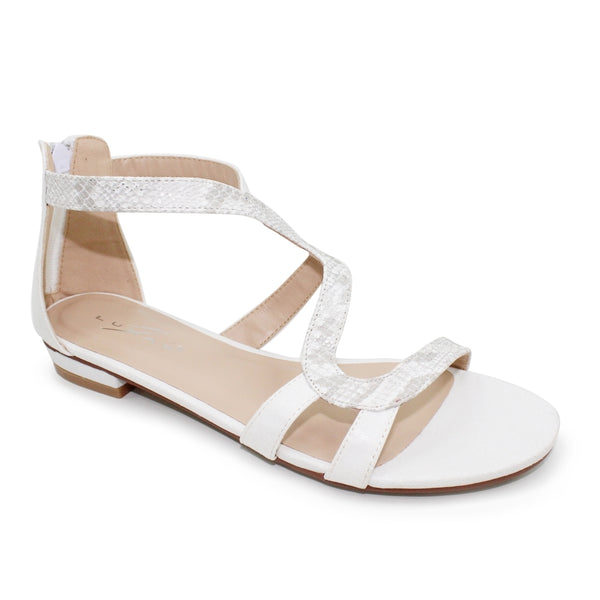 Heiress Gladiator Low Heel Sandal