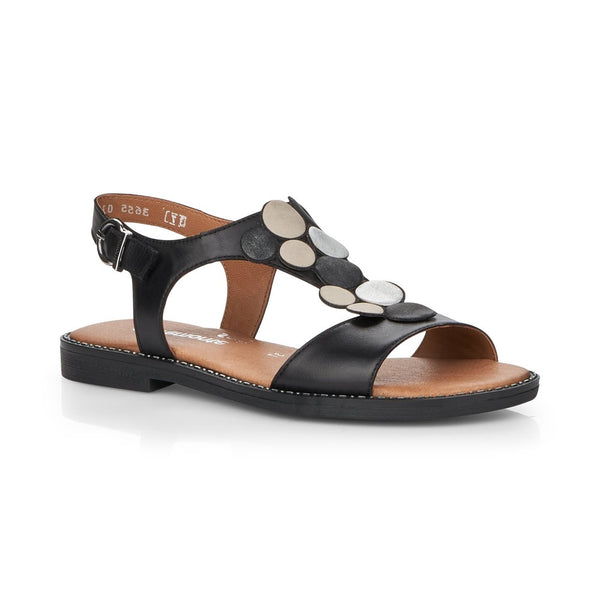Remonte Ladies Flat Sandal With Trim