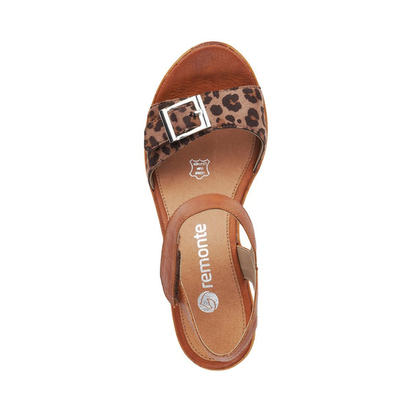 Remonte Ladies D4754-24 Mid Wedge Heel Strap