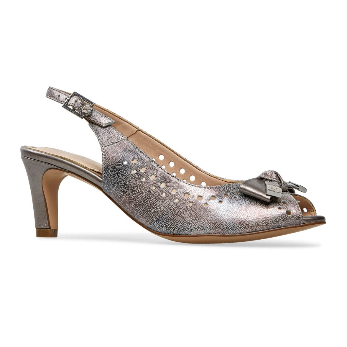 Hawkhurst High Heel Sling Back Peep Toe Shoe