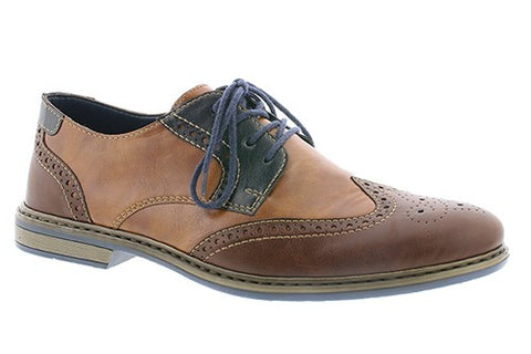 Lace Up Three Tone Brogue Shoe