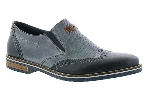 Two Tone Slip On Brogue Loafer