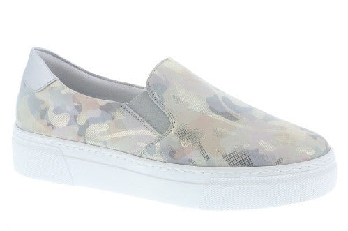 Slip On Low Heel Camoflague Loafer Pump