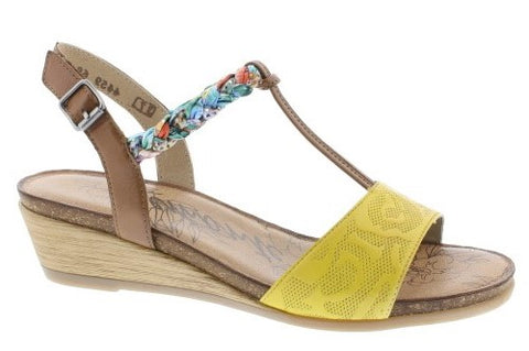 Mid Heel Wedge Sandal