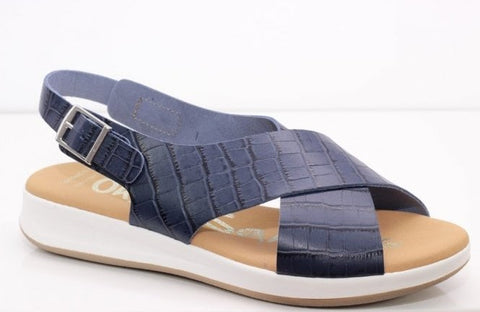 Oh My Sandals Ladies Sling Back Sandal Navy