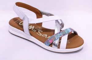 Oh My Sandals ladies Soft Leather Sandal White