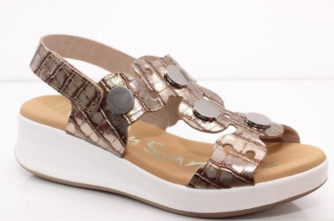 Oh My Sandals Ladies Sandal Taupe