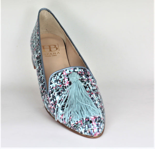 Acacia Low Heel Tassel Slipper Shoe