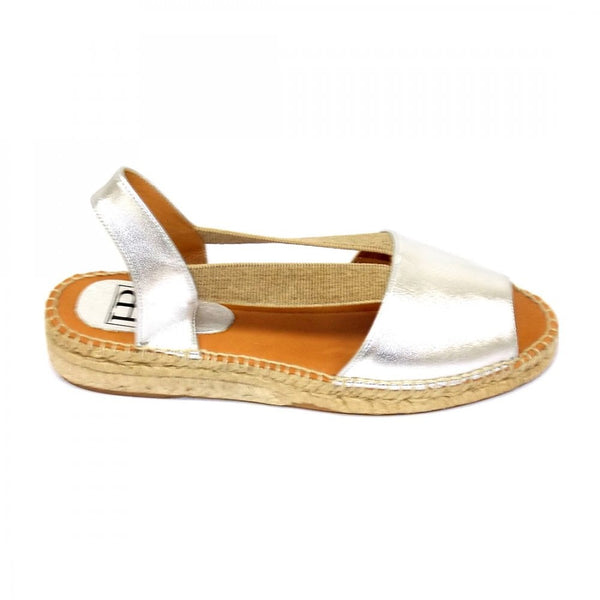Easy 2 Low Heel Leather Espadrille Sandal