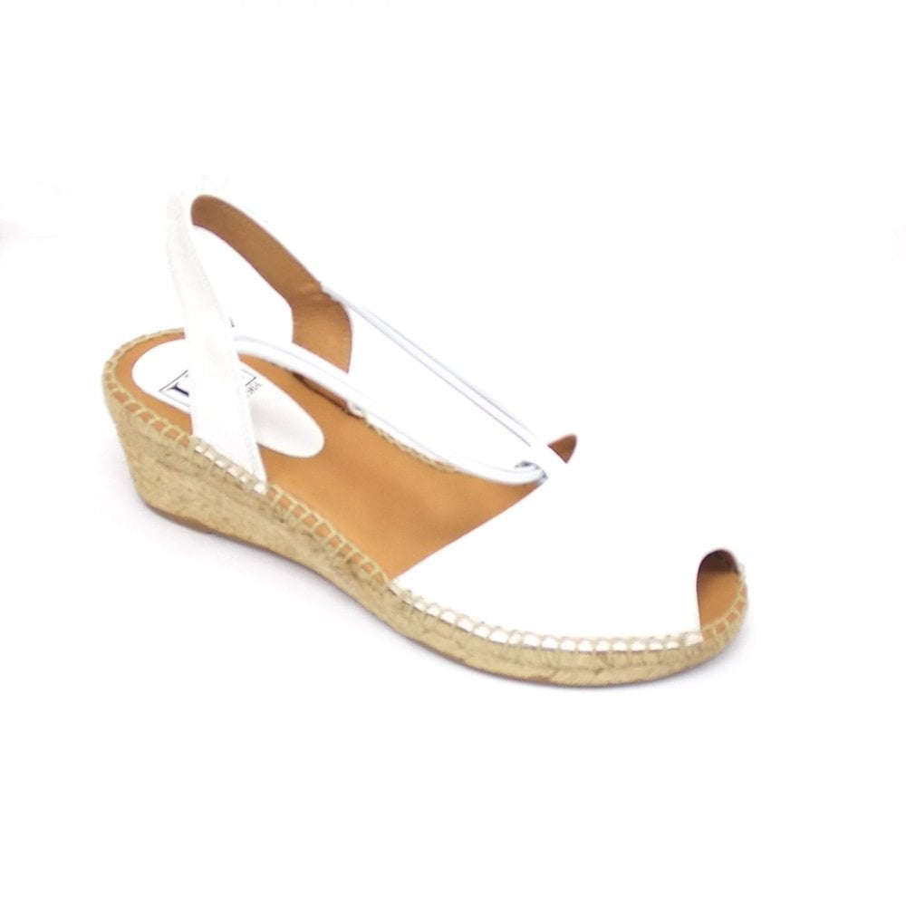 Simple Mid Wedge Heel Peep Toe Sandal