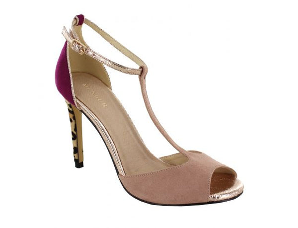 Fiave High Heel T-Bar Peep Toe Shoe