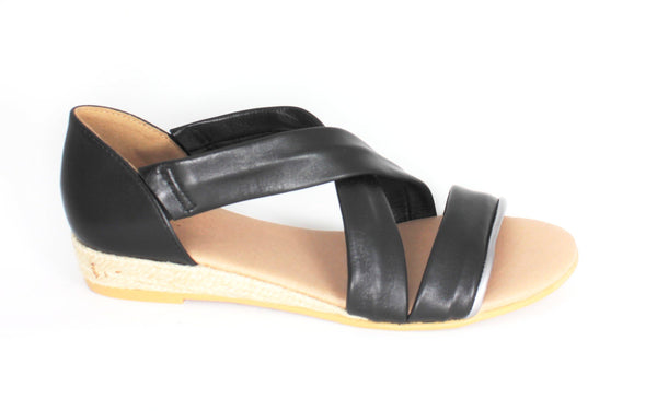 Isabella Strappy Low Wedge Heel Sandal