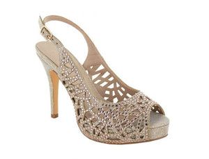 Vendaso Jewel Sling Back High Heel Shoe