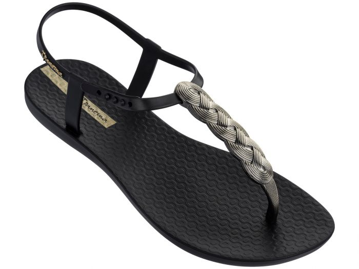Charm Sandal With Braid Detail