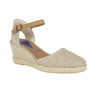Malena Serraje Closed Toe Wedge Heel Espadrille Sandal