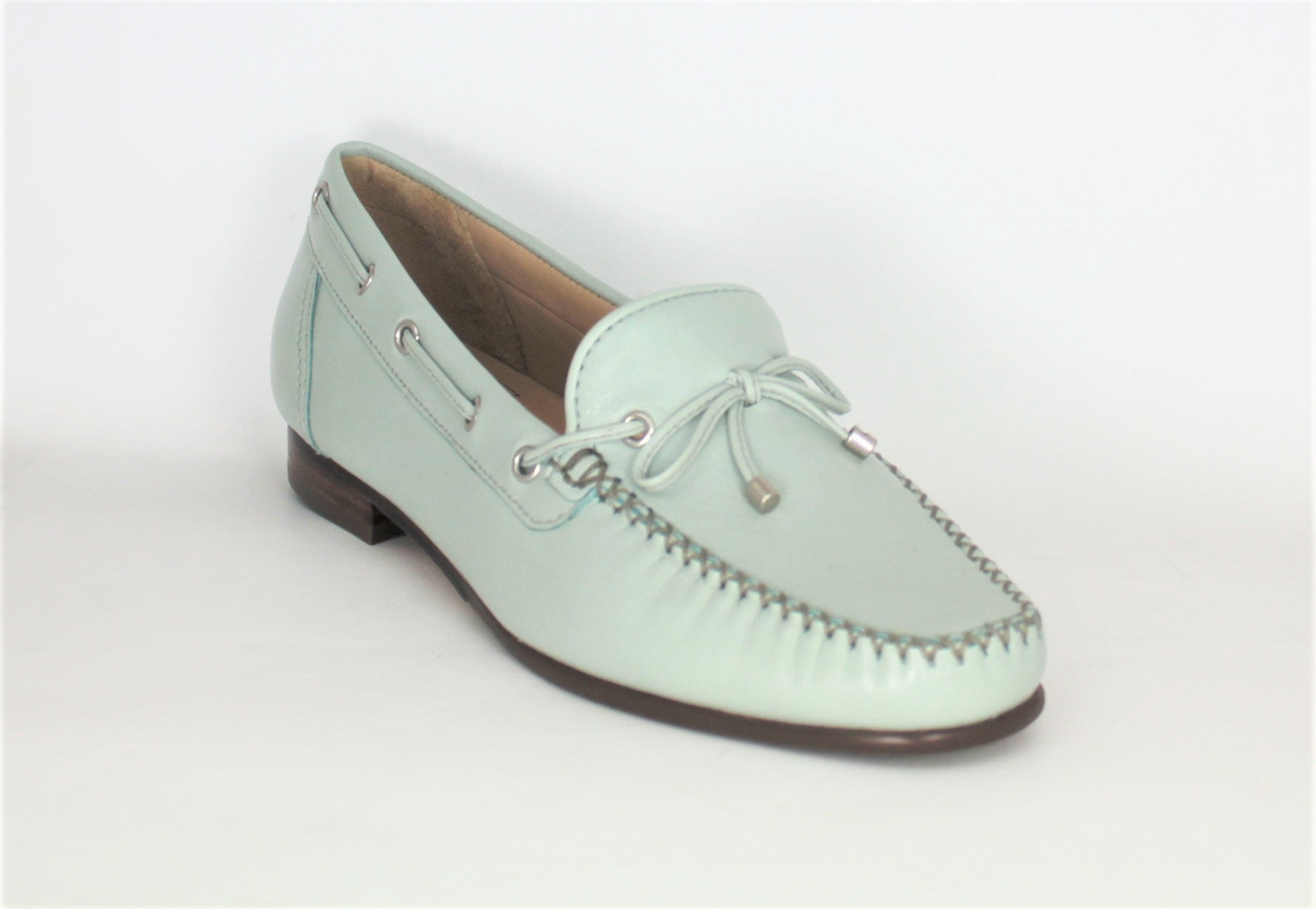 Whip Low Heel Loafer With Bow Trim