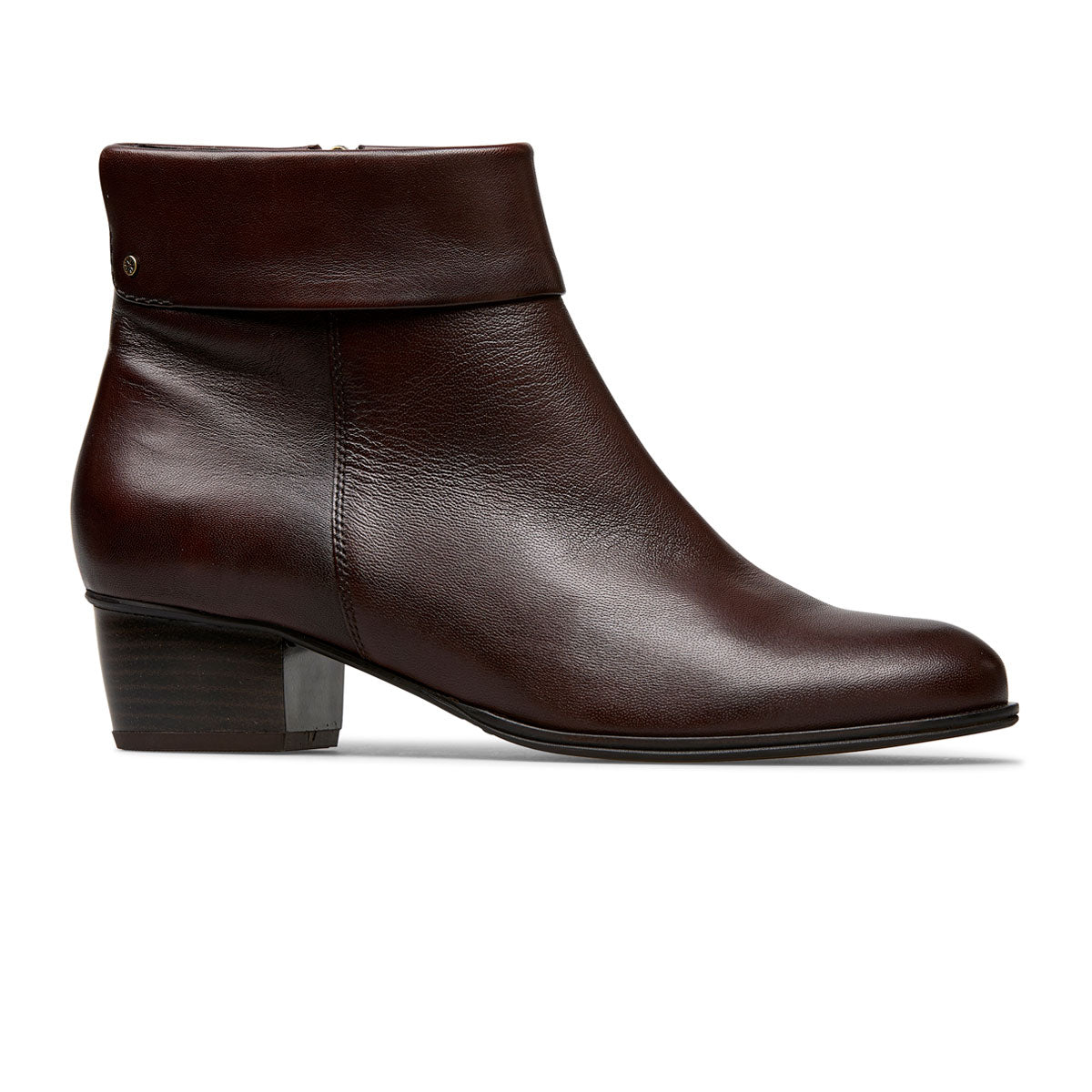 Dove Leather Boot With Turn Over Cuff