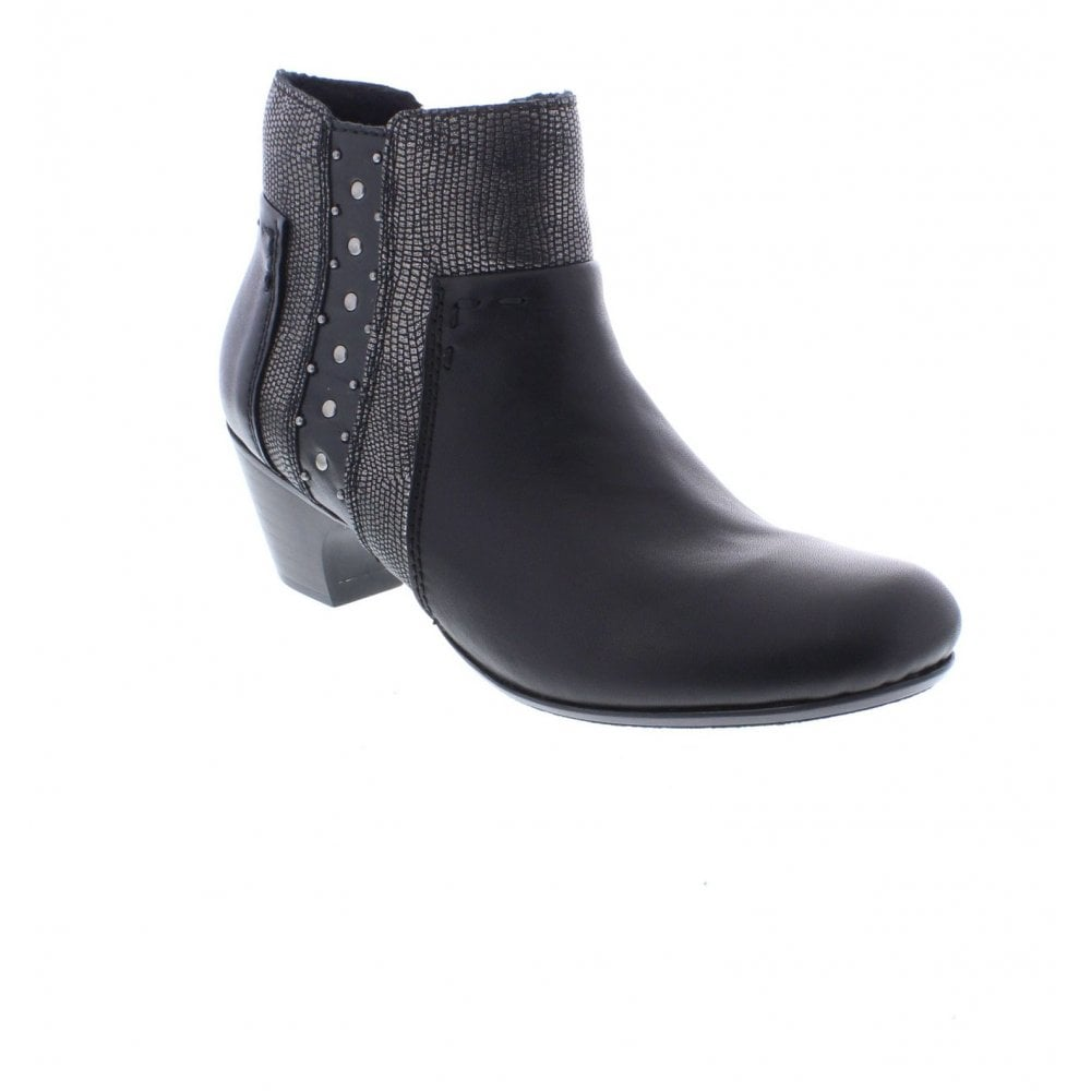 Mid Heel Ankle Boot With Stud Decoration