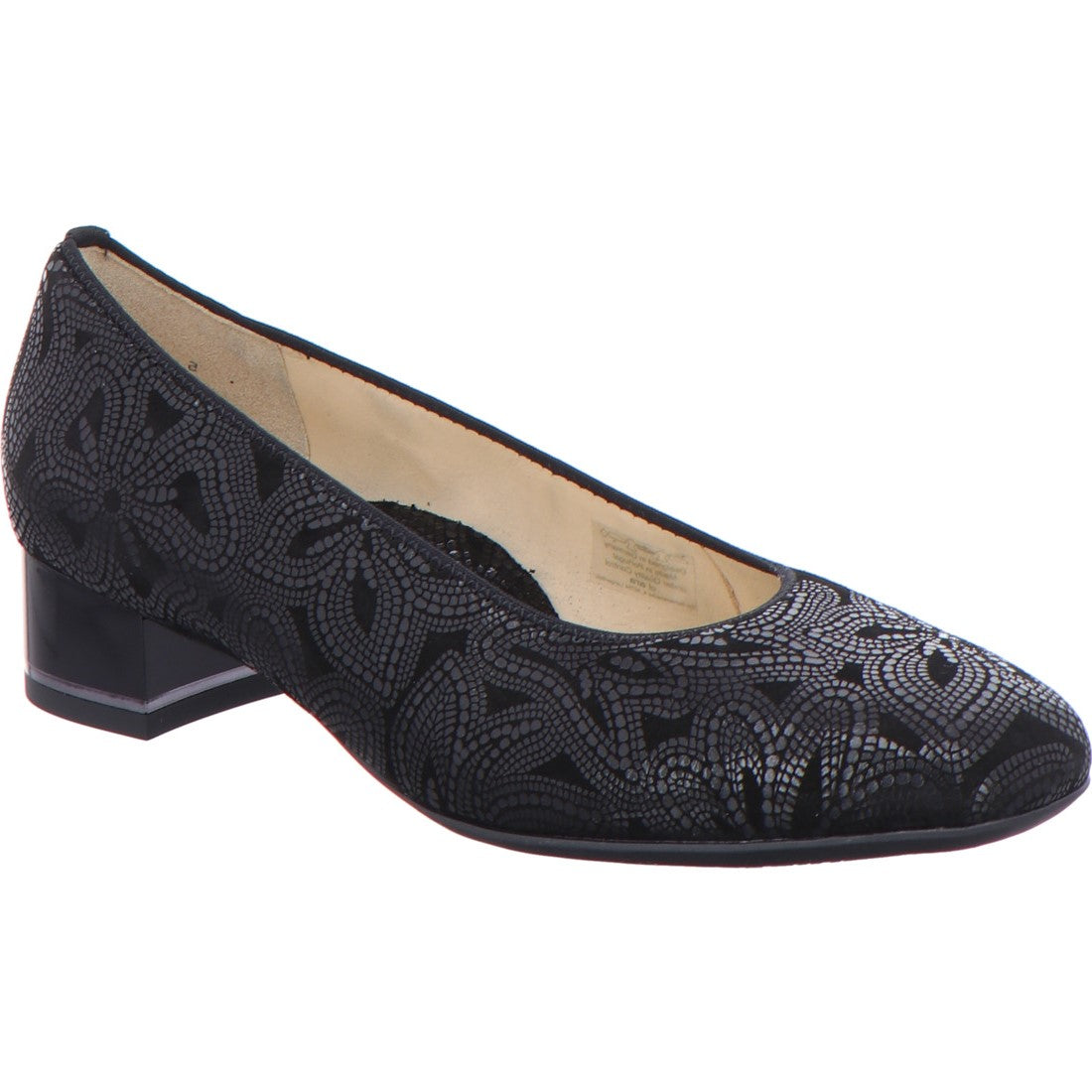 Graz Low Heel Court Shoe