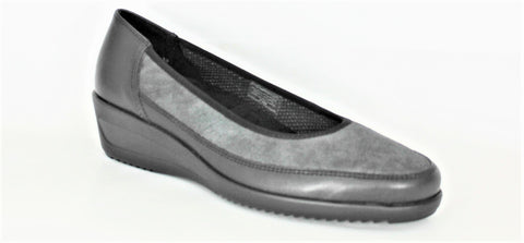Zurich Mid Heel Wedge Court Shoe
