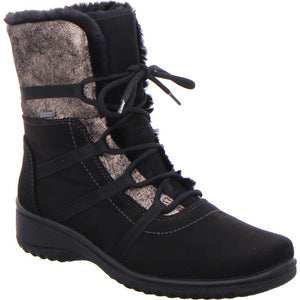 Munchen Low Wedge Heel Goretex Lace Up Ankle Boot