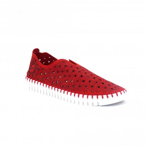 SKA Ladies Paz Slip On Vegan Shoe Red