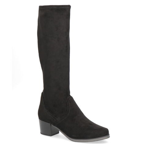 Stretch Low Heel Knee High Boot