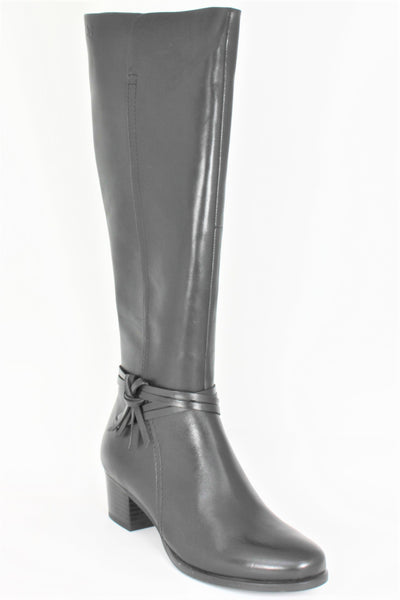 Knee High Block Mid Heel Boot