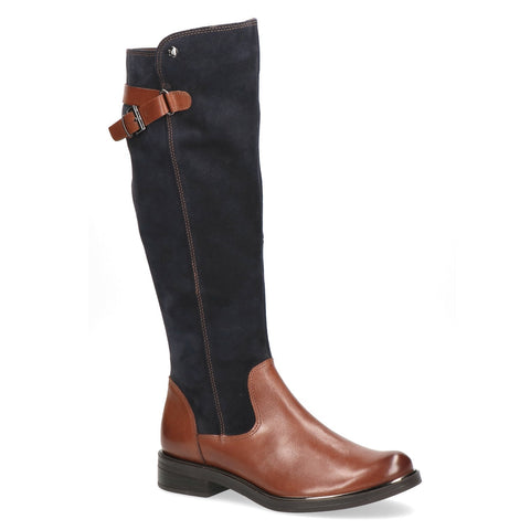 Low Heel Knee High With Strap and Buckle Detail Boot