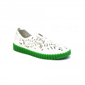 SKA Pilar Ladies Slip On Vegan Shoe White
