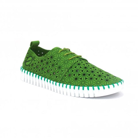 SKA Ladies Poppy Ladies Lace Up Vegan Shoe Green