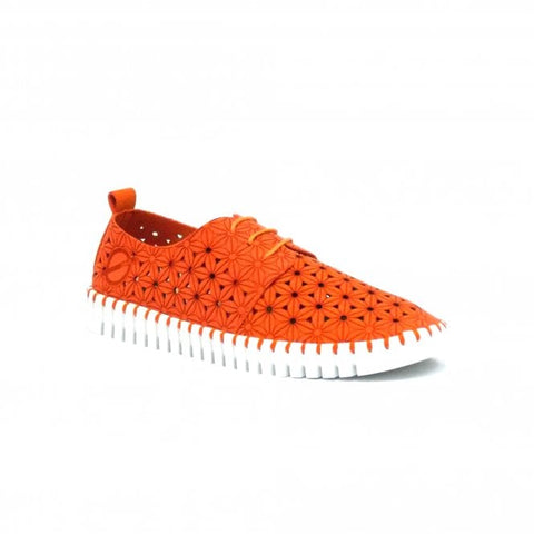 SKA ladies Poppy Lace Up vegan Shoe Orange