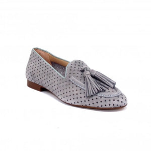 SKA Ladies Zaire Nubuck Slip On Loafer Grey