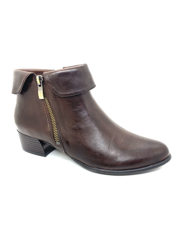Bruna Low Block Heel Boot With Turnover Cuff