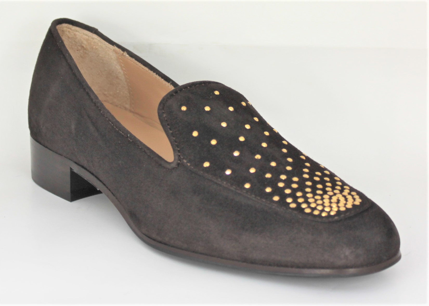 Myla Low Heel Loafer With Stud Trim