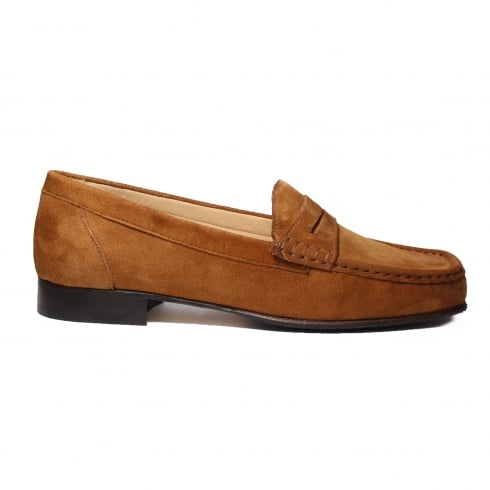 Suede Leather Low Heel Moccasin Loafer