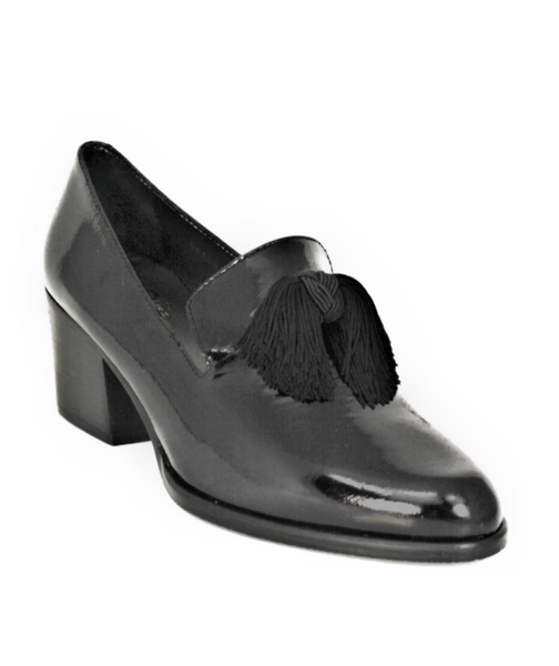 Mid Block Heel Tassel Loafer