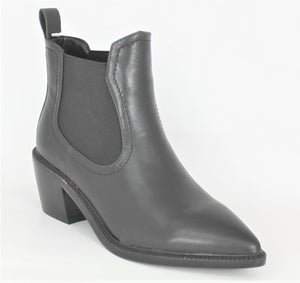 Western Style Pull On Ankle Boot
