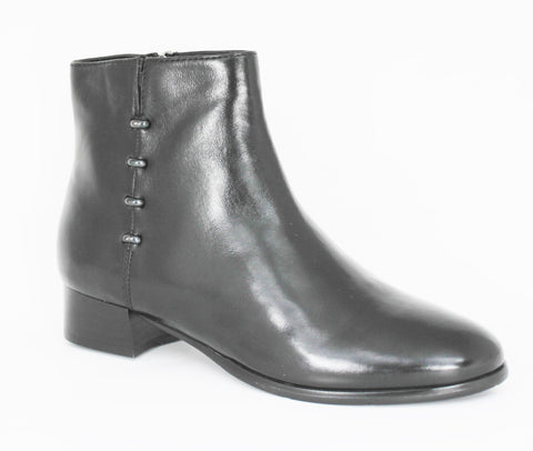 Criston Low Heel Ankle Boot With Metal Trim