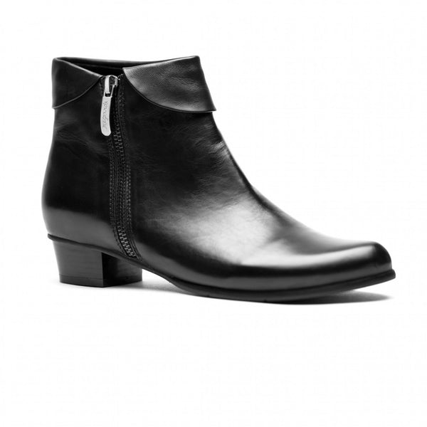 Stefany Low Heel Ankle Boot With Turnover Cuff