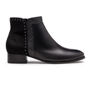 Criston Low Heel Ankle Boot With Stud Trim